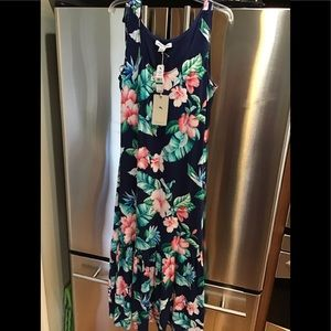 Tommy Bahama long floral dress size large NWT
